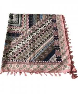 DOCILA Cotton Square Geometry Pattern in Fashion Scarves