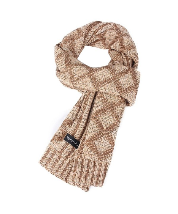 Vankerful Unisex Fashion Wrap Wool Knit Thick Warm Winter Long Scarves For Men - Dfs095kakhi - CT1874QEHYL