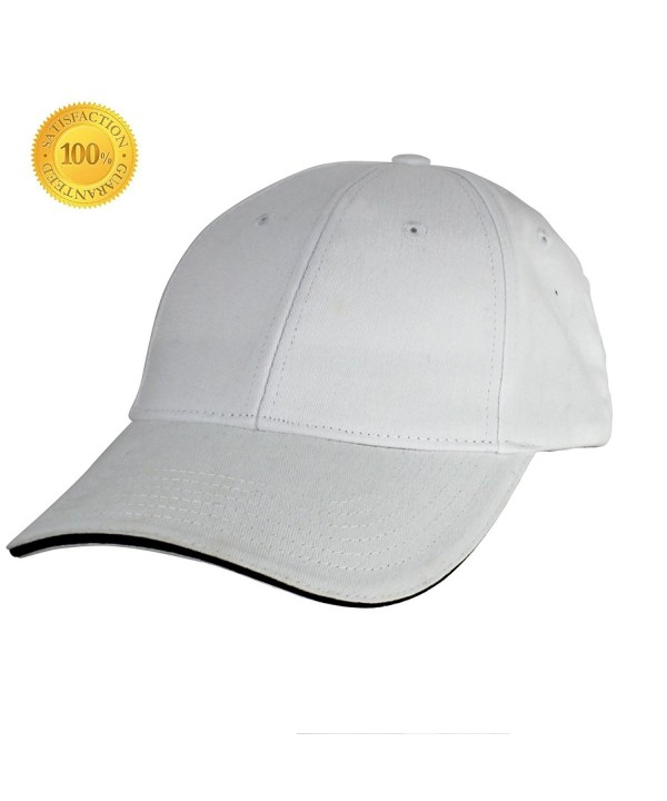 YEYIMEI Baseball Cap Unisex Cotton Cap Trucker Hat White Cap Sun Hat Adjustable Cap For Men- Women - White - C7182KSI5YN