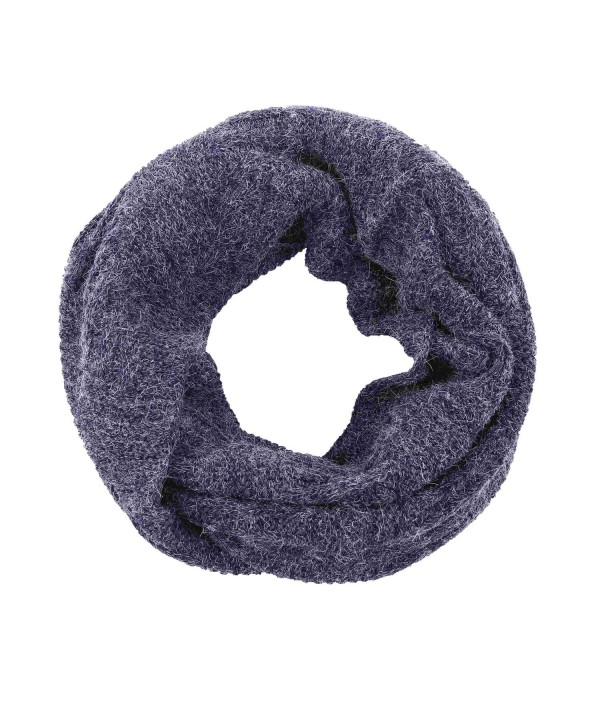 Knitted Infinity Scarf for Men-Women's Simplicity Thick Neck Warmer - Navy 2 - CR12L5JP7O5