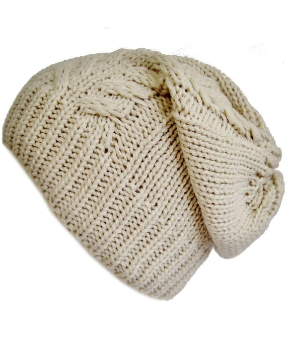 Frost Hats Slouchy Winter Hat Warm Winter Beanie M2013-23 - Beige - CF11E3Z7RIX