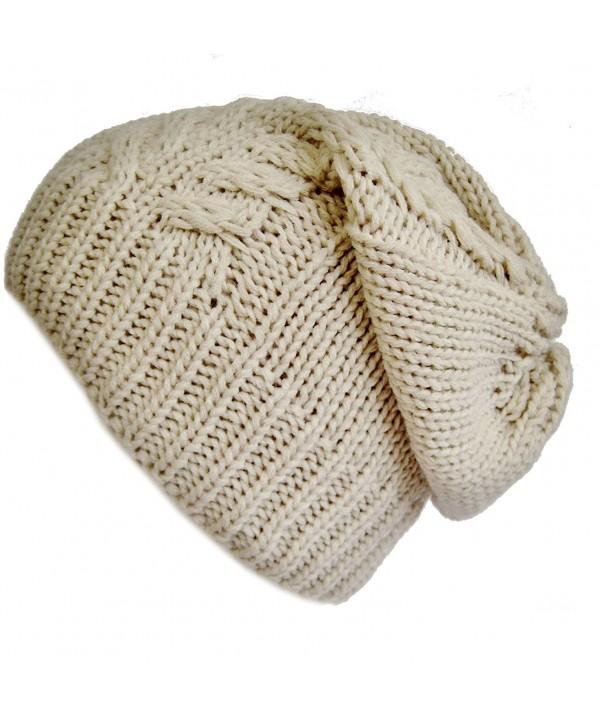 Frost Hats Slouchy Winter Hat Warm Winter Beanie M2013-23 - Beige - CF11E3Z7RIX