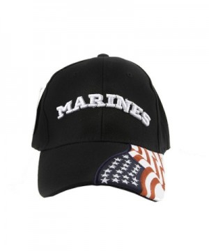 US Marines Corps embroidered cap Few Proud Military USA Insignia Adjustable Baseball Caps Hat - Black and White - CG124UHS0C5