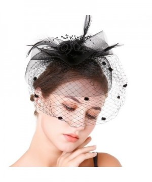 Fascinaor Feather Wedding Party Balck
