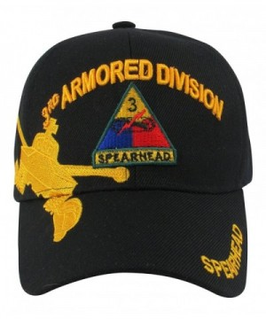 """US Army 3rd Armored Division """"Spearhed"""" Baseball Cap- One Size- Black - C011L8O5V9T"""
