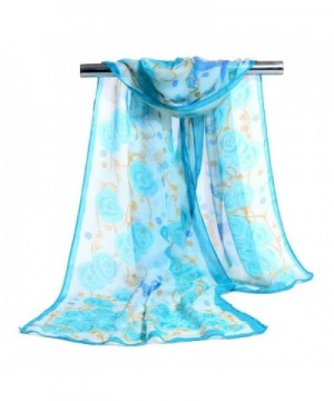 "Sothread Fashion Women Rose Chiffon Soft Wrap scarf Ladies Shawl Scarf Scarves (Blue) - ""		 	 Blue	 	"" - CB1865K64HM"