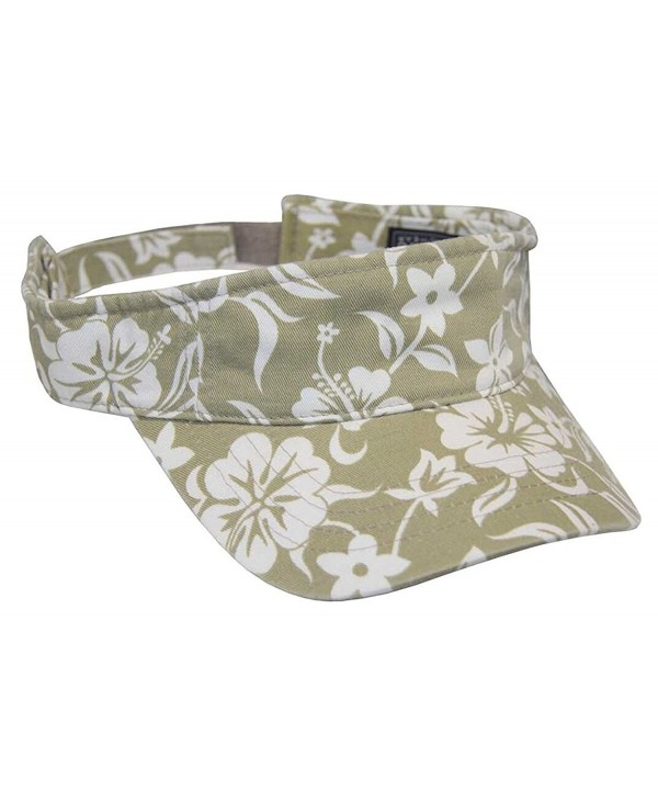 Magic Headwear Hawaiian Floral Pattern Visor (Khaki) - CM11ACNS1QV