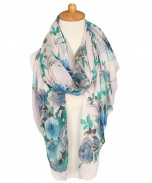 GERINLY Lightweight Shawl Scarf Turquoise