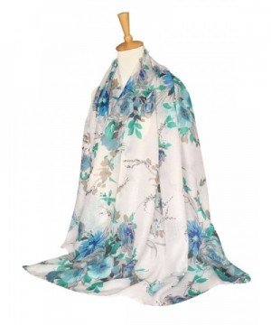 GERINLY Lightweight Shawl Scarf Turquoise in Fashion Scarves