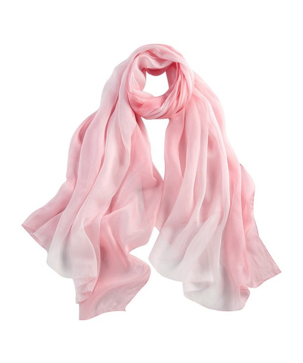 STORY OF SHANGHAI Womens 100% Mulberry Silk Head Scarf For Hair Ladies Scarf Gift for Valentine's Day - Pink - CU12KIX09B5