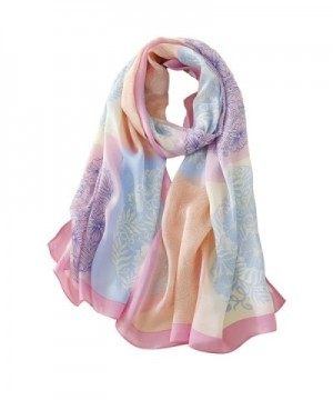 Tong Rui Women's Large Silk Scarf Colorful Scarf - Tr 02 - C4185KC9E0Z