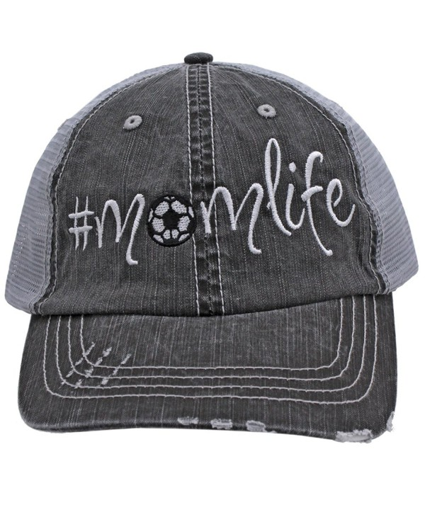 Soccer Momlife Women Embroidered Trucker Style Cap Hat Rocks any Outfit - CN1822O750O