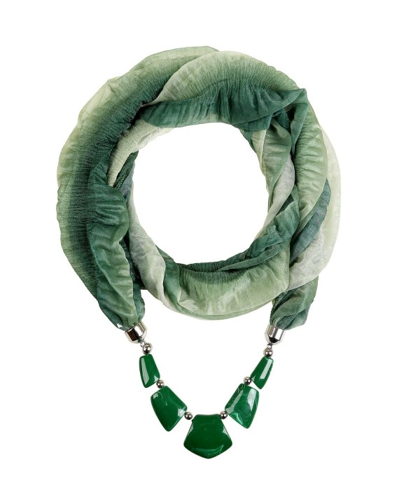 Valentine's Day Gift LERDU Ladies Gift Idea Versatile Unique Infinity Scarf Necklace for Women - 175 / Green - C611WKT6ODX