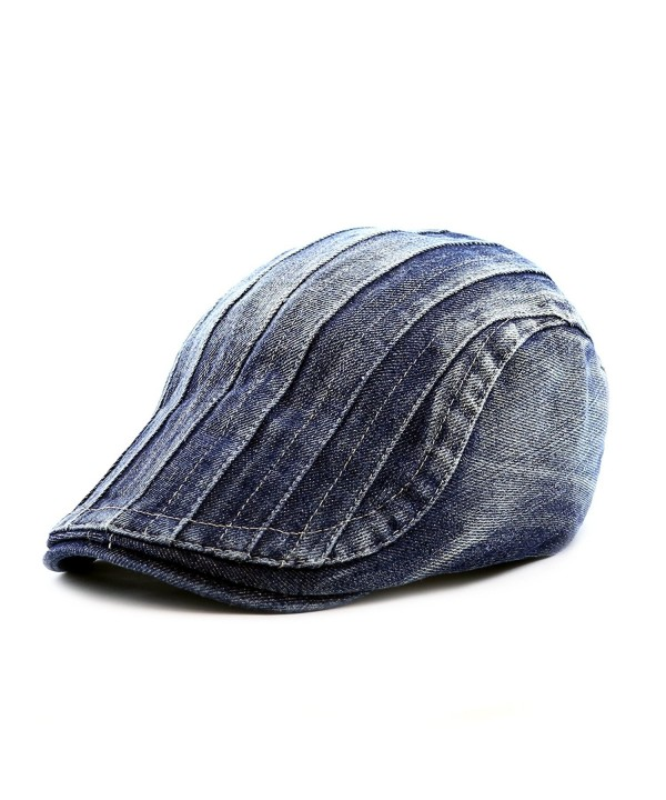 1b0b05882c056 The Hat Depot 200h4130 Thick Stitched Denim Newsboy Ivy Hat - Denim Blue2 -  CJ12CEUPRSZ