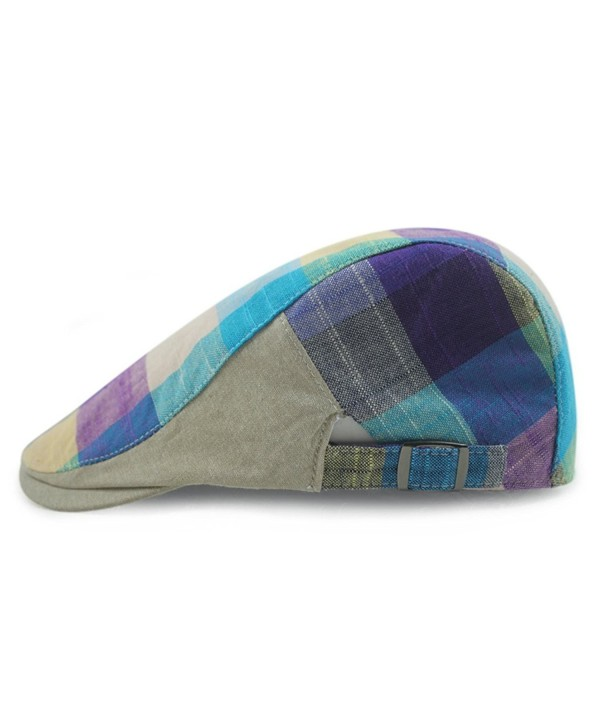 Gumstyle FASHION Duckbill Driving Newsboy - Blue Purple - C312F8FZHEH