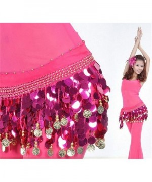 ZYZF Dancing Costume Sequin Waistband in Fashion Scarves