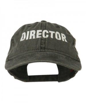 Director Embroidered Washed Cotton Cap - Black - CS11LBM8QL3
