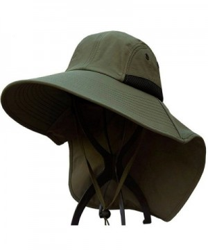 JFS Mens Summer Outdoor Quick Dry UV Protection Sun Hat Fishing Hat - Army Green - CL12HIL1HBL