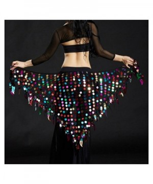 Wuchieal Triangle Sparkling Belly Headscarf in Fashion Scarves