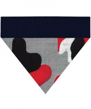 Bandanas Embroidered collar Patterns customize - Red Accent Camo / Dark Navy - C5187Y34YWZ