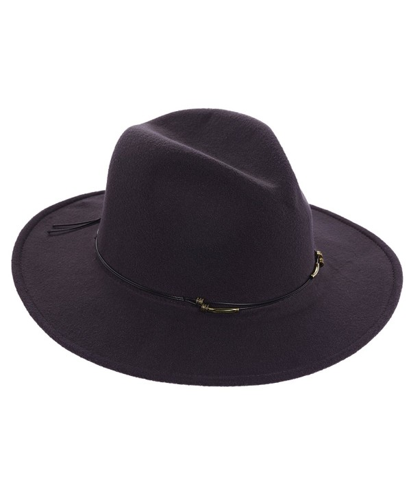 SCALA ULTRA FELT SAFARI WOMEN HAT - Charcoal - C812MOH6X1N