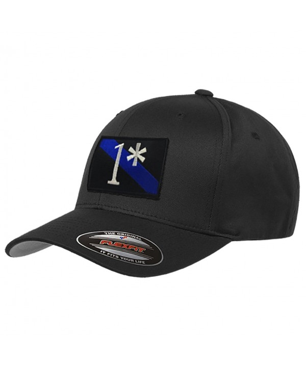 1 Asterisk Thin Blue Line Flexfit Hat - C5183L245OS