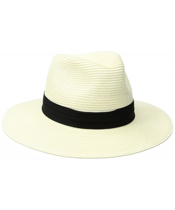Coal The Andie Paper Straw Fedora Sun Hat - White - CV12I43JTM1