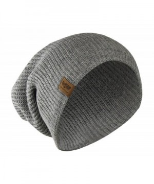 Grey Reversible Winter Slouchy Beanie in Men's Skullies & Beanies