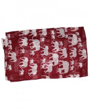 Ted Jack Elephants Silhouette Burgundy in Fashion Scarves