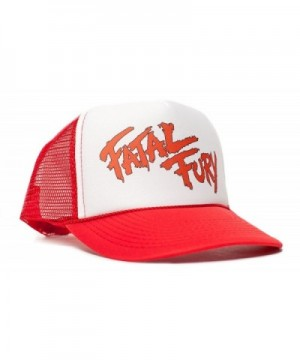 Fatal Fury Unisex-Adult Trucker Hat -One-Size Curved Bill Red/White - CW11T58VNEH