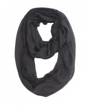 Women Soft Lace Infinity Scarf