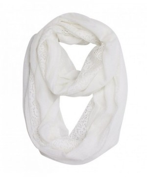 Women Soft Lace Infinity Scarf in Cold Weather Scarves & Wraps