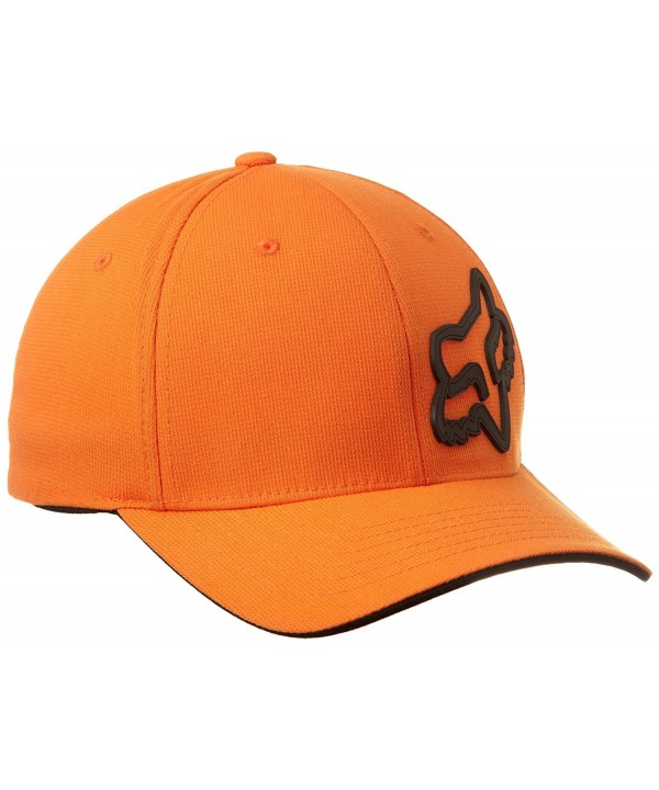 Fox Men's Signature Flexfit Hat - Orange - CO115XP4X3J
