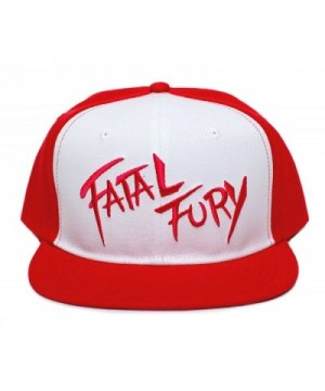 Fatal Fury Embroidered Flat Bill Unisex-Adult Trucker Hat -One-Size Red/White - CH12HGBLS99