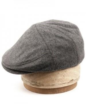 Herringbone Winter Cabbie Fleece Earflaps in Men's Newsboy Caps