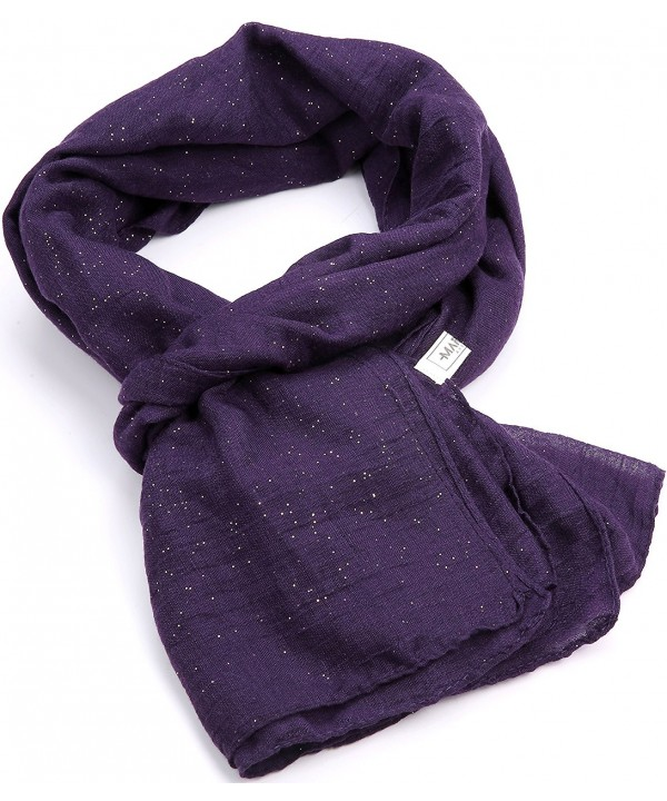 Womens Fashion Scarf- Long Lightweight Scarf- Shawls For Women - Indigo - C712O0THJZN