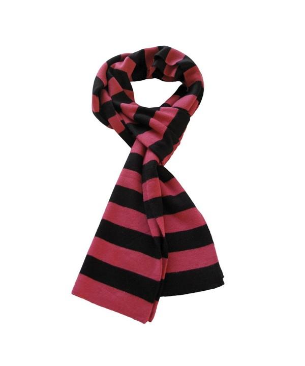 Soft Knit Striped Scarf - Black & Pink - CM112PL9W0X