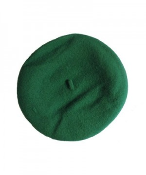 Kelly Green French Parisian Hat in Women's Berets