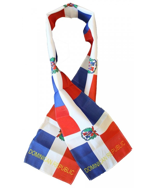 "Dominican Republic - 8"" x 60"" Lightweight Flag Scarf - CO112PACZED"