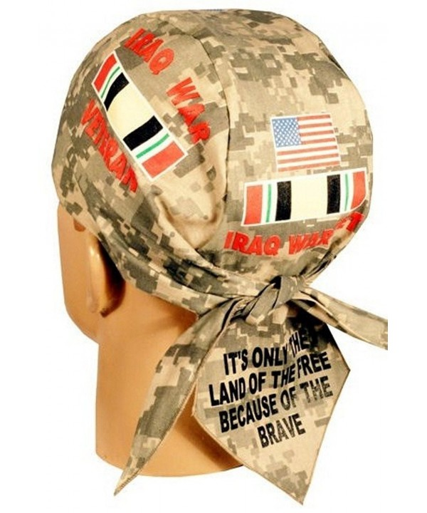 Skull Cap Headwraps Doo Rags - Iraq War Veteran on ACU Digital Camo - C012ELHN2L3