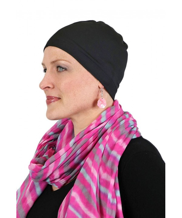 Moisture Wicking Wig Cap Hat Liner Cool Wick Beanie Chemo Caps for Women - Black - CX184Y3QNRD