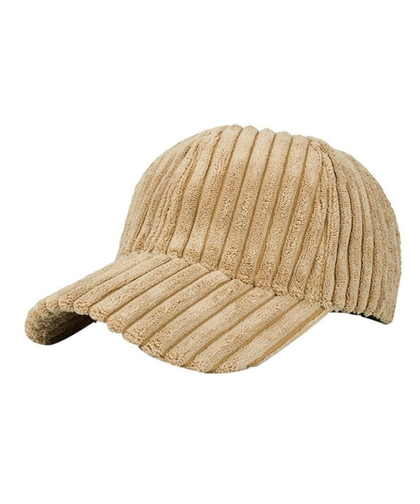 Highpot Women Men Cotton Corduroy Baseball Cap Vintage Adjustable Hat - Khaki - CN1869A7MSI