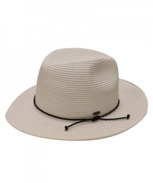 City Hunter St500 Womens Spf50++ Sun Beach Straw Hat with String 4 Colors - White - CL182XNZ8WZ