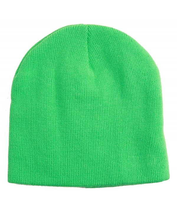 Neon Short Knit Beanie - Green - CE12LO9457B
