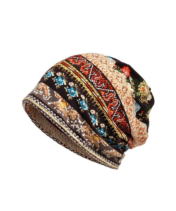 Hunputa Womens Hat Winter- Skullies Beanies Thin Bonnet Cap Autumn Casual Beanies Hat - Coffee - CI188TY45K9