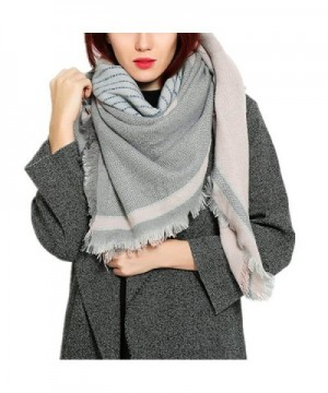 RACHAPE Winter Blanket Scarf for Women Fashion Large Soft Shawl - Pink - CD12O4YF23R