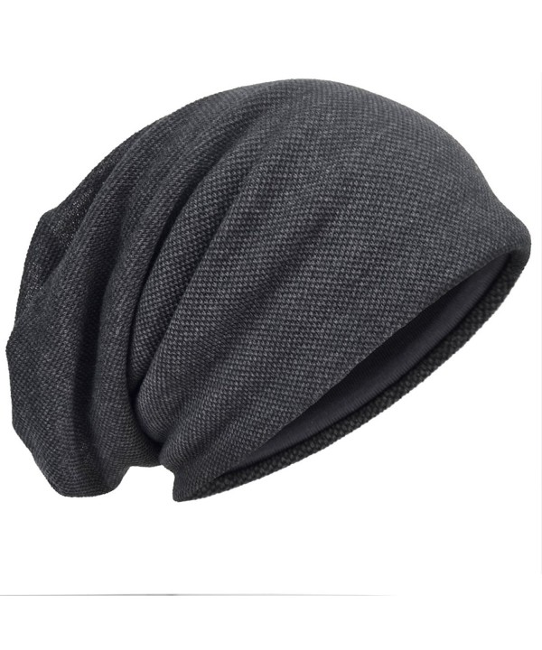 HISSHE Men Slouch Hollow Beanie Thin Summer Cap skullcap B011h - Grey301 - C317Z3IN85Z