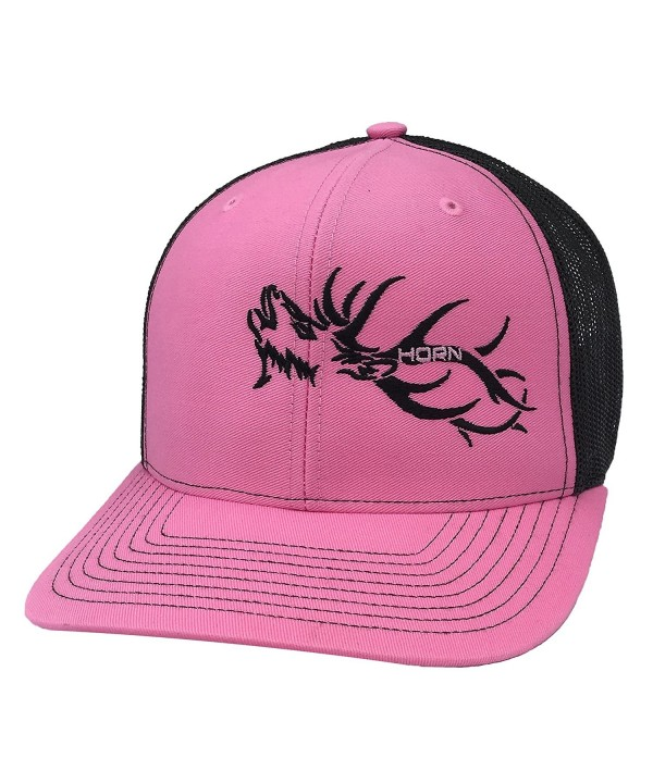 Horn Gear Trucker Hat - Hunters Series - Elk Edition - Hot Pink/Black - CC180S3YHCS