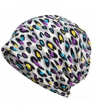 Qiabao Women's Slouch Print Chemo Beanie Hat Cap Headwear - A - CY17Z32EN32