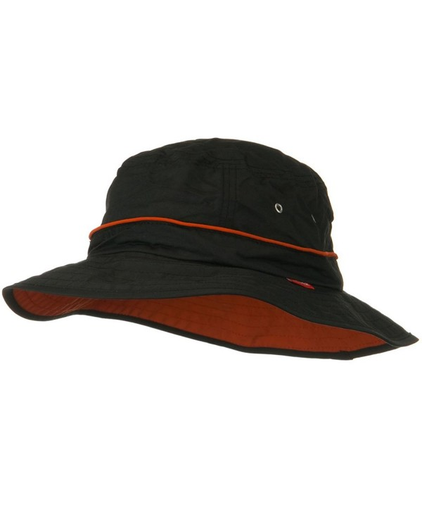UV 50+ Orange Piping Talson Sun Bucket Hat - Black - CS11I67NJ3B